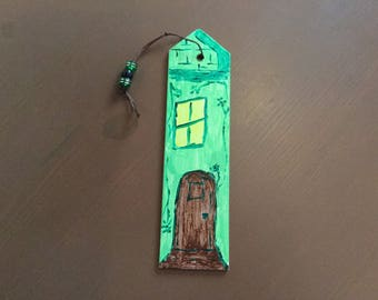 Bookmarks durable green and Brown theme door