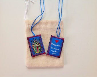 Set of Scapulars Baptism Favors First Communion Christening Favors Favor Bautizo Bolos Recuerdos Virgencita Porfis Escapularios