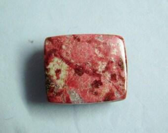 Polished Thulite loose stone, Thulite gemstone Cabochon, Natural Thulite gemstone, Smooth Red Thulite loose gemstone, 32 Cts. #3338N