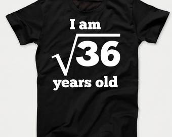 Square Root of 36 6 Years Old Funny 6th Birthday Kids T-Shirt