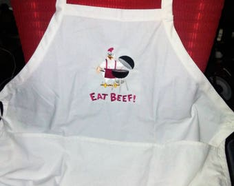 Eat Beef 3 pocket BBQ apron