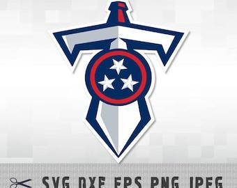 Tennessee Titans SVG PNG DXF Logo Layered Vector Cut File Silhouette Studio Cameo Cricut Design Template Stencil Vinyl Decal Transfer Iron