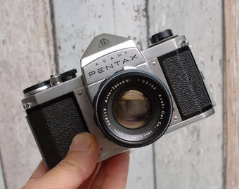 ASAHI PENTAX S1 SLR camera + Auto-Takumar 1:2.2/55 lens Full Mechanical camera! Fully Serviced! Street Photography!