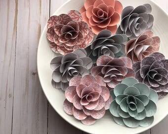 Coral Flowers, Paper Flowers, Flower Centerpiece, Table Centerpiece, Beach House, Coastal Decor, Beach Decor, Shiplap, Modern Farmhouse