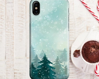 Christmas Tree Snowfall Phone case iPhone 8 Case iPhone 8 PLUS Case iPhone X Case iPhone 10 Case iPhone 7 Case iPhone 7 plus Case Gift