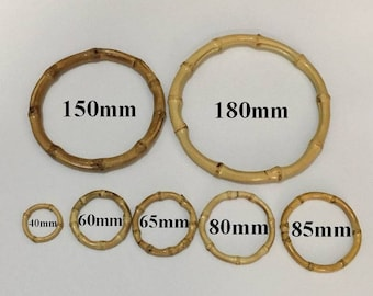 5pcs-40-180mm bamboo loop Bamboo ring bamboo accessories for earring and necklace making ET2346