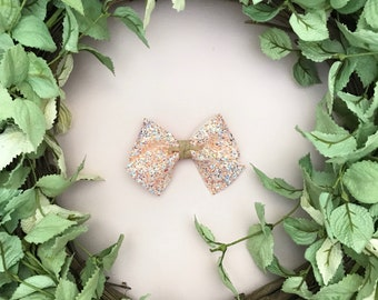 Peach Fuzz Glitter Bow {ALICE style} - Easter - Easter 2018