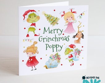 Personalised The Grinch Christmas Card - Merry Grinchmas - Xmas Card