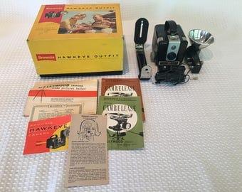 Vintage 1959 Kodak Brownie Hawkeye Outfit