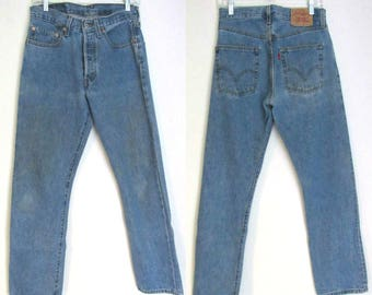 90s Levis 501/ 31 / 6-8 /Button Fly / 90s Classic Straight Leg Jeans 31 X 31