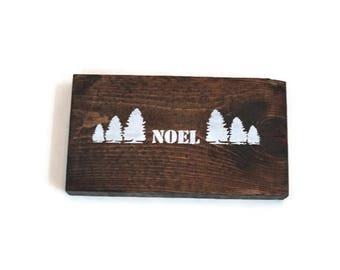 Rustic Noel Block Sign, Simple Christmas Decor, Farmhouse Christmas, Christmas Sign, Christian Holiday Decor, Noel Sign, Tree Sign