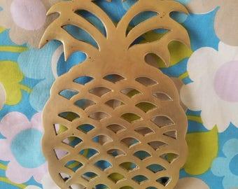 Brass Pineapple Trivet