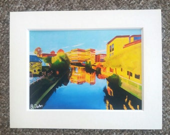 "The Foss, York - A4 or 7"" x 5"" Print of an Original Painting by Bryan John"