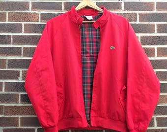 Lacoste/Izod harrington jacket size L