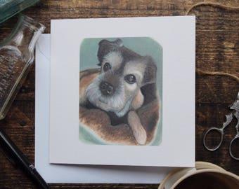border terrier //dog birthday card//cute card//birthday card, occasion//frameable print,