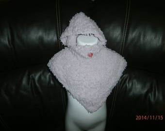 Poncho baby 3 months hand knitting