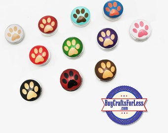 PAW PRiNT BUTTON, 18mm INTERCHaNGABLE Buttons +FREE Shipping & Discounts