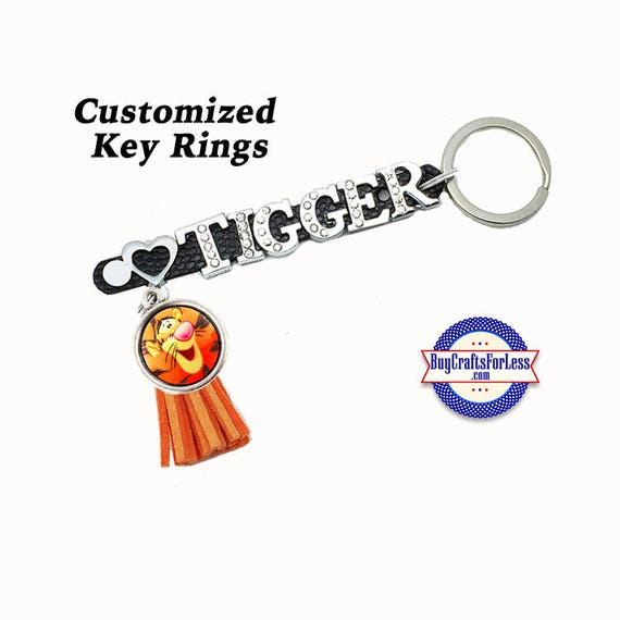 CUSTOMIZE Key Ring, PERSONALIZE For you -4 Colors, 8 Different Tassels from BuyCraftsForLess +FREE Shipping & Discounts*