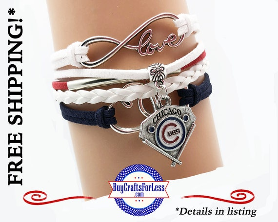 CHICAGO CuBS Bracelet -INFiNITY CHaRM BRaCELET, Leather/Suede, Choose Clasp - Super NiCE! +FREE SHiPPING & Discounts*