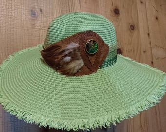 Green floppy hat 20% off! Apply code SUMMERSALE2017