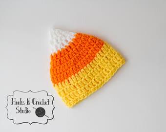 newborn crochet hat, baby crochet hat, newborn candy corn hat, newborn candy corn, newborn halloween hat, newborn halloween, baby candy corn