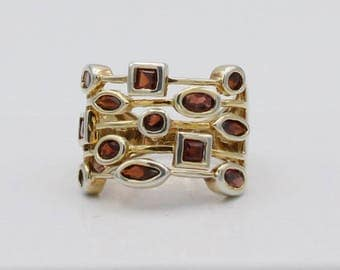 Garnet Stacked Ring