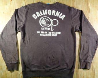 Vintage Ocean Pacific Sunwear Southern California Surfing Rare Sweatshirt