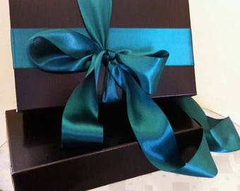 "6 Black Gift box 9""x5""x1"",cardboard, gift wrapping,gift,xmas,christmas,black,rectangular box,giftbox,gift boxes,lowest price,black gift box"