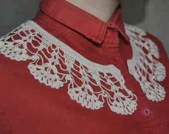 Handmade Collar, Detachable Crochet Collar, Neck Accessory, 100% Cotton