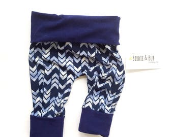 Miniloones | Grow With Me Pants | Baby Leggings | Baby Girl Pants | Blue Baby Leggings | Blue Baby Pants | Baby Boy Pants