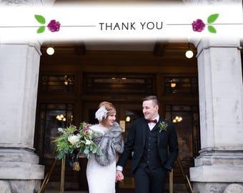 Custom Wedding Thank You Postcard