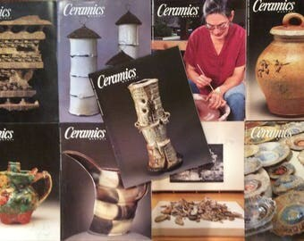 Ceramics Monthly Magazines - 9 Issues from 2000