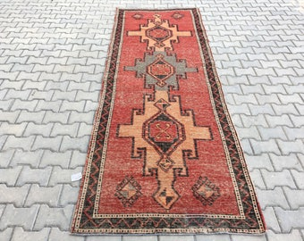 10.5 x 3.6 Ft floor rug,turkısh rug,oushak  rugs ,vintage rug,home living rug,carpet,area rug,bohemian rug,overdyed rug,home decor rug,rugs