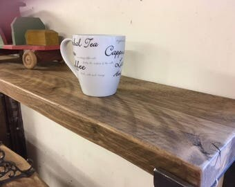 Reclaimed Scaffolding Board Shelf With Selection Of Waxed Finishes