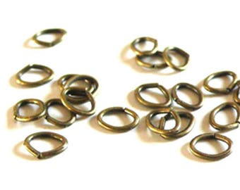 thin bronze rings 5mm ovals - 20