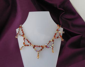 Bronze Crystal Necklace.
