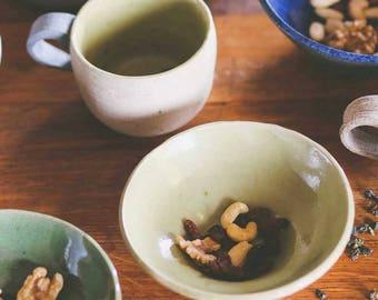 Tea Cup, Handmade Mug, Stoneware Mug, Handcrafted Mug, Hand Thrown Mug, Unique Gift, Yellow Mug, Lime Green Mug, Handmade Green Mug,