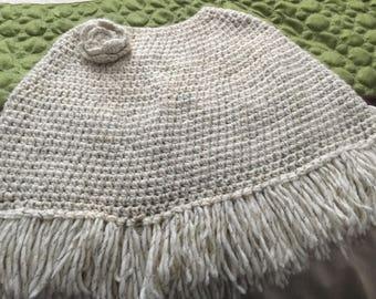 Homemade crocheted shawl
