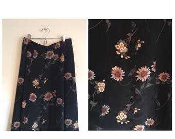 "90's ""Rachel Green Capsule Collection"" Sunflower Midi Skirt"