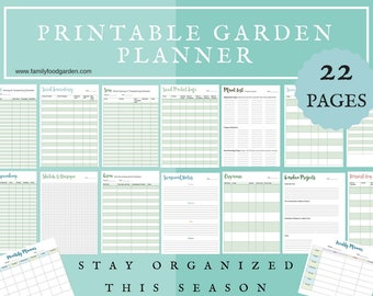 Garden Planner Printable Garden Log Track Gardening Plants