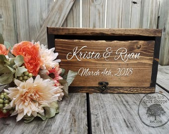 Rustic Wood Wedding Card Box | Wedding Card Holder | Wedding card Box with lid | Advice Box for bride groom | wishing well | Money Box