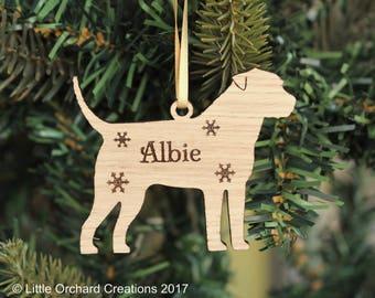 Personalised Border Terrier Decoration, Border Terrier Christmas tree decoration, Border Terrier, Terrier Ornament, Border Terrier Bauble