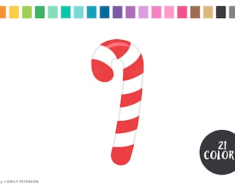 Candy Canes, Christmas Candy - Cute Clipart, Clip Art - Commercial Use, Instant Download