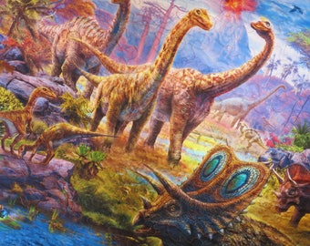 Gift for boy, gift for girl, Dinosaur Quilt, Dinosaur Blanket, Digital Dinosaur Quilt, Wall Hanging, Lap Quilt, Boy Quilt, Girl Quilt
