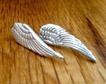 Silver angel wing studs, silver angel wing earrings, wing earrings, wing studs, wing, studs, silver, angel wing jewellery, remembrance