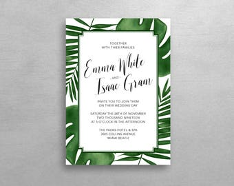Tropical Wedding Invitation & RSVP - Simple Suite - Deposit Listing