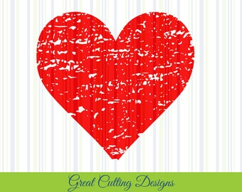 heart SVG distressed svg grunge svg DXF love SVG distressed svg grunge svg Cricut svg Silhouette svg Vinyl Cut File Digital cut file