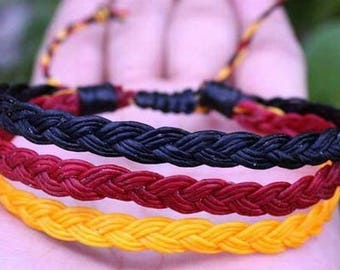 Triple waxed string, surfer friendship bracelet ethnic bracelet