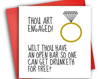 Engagement card/ Greetings card