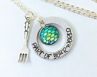 The Little Mermaid Necklace - Part of Your World Dinglehopper